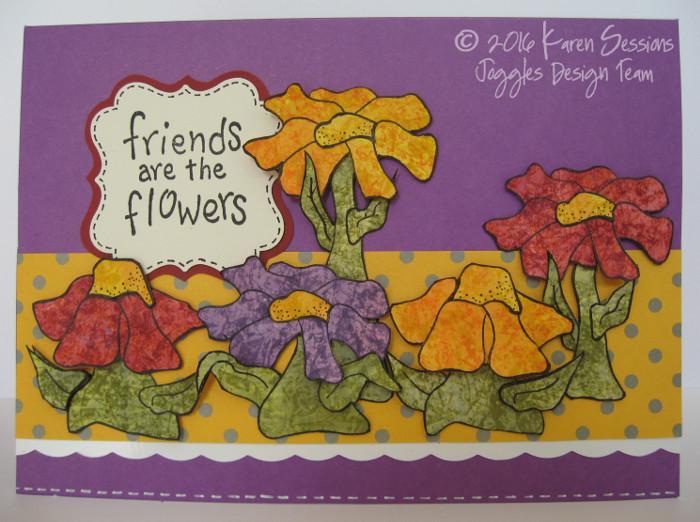 Karen Sessions - Funky Flower Stamps - July 29 - 13 logo