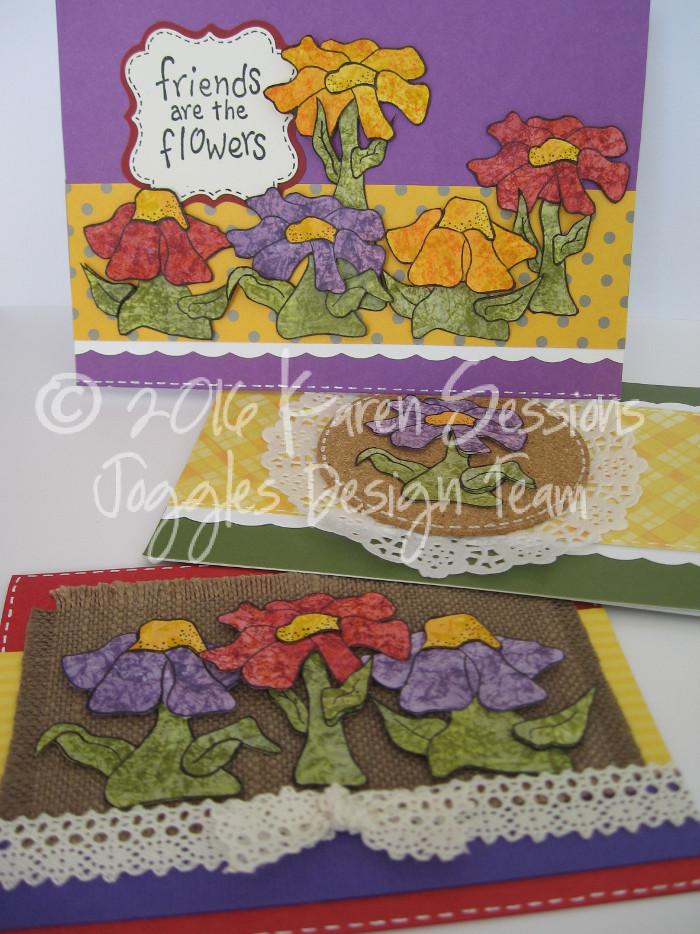 Karen Sessions - Funky Flower Stamps - July 29 - 20 logo