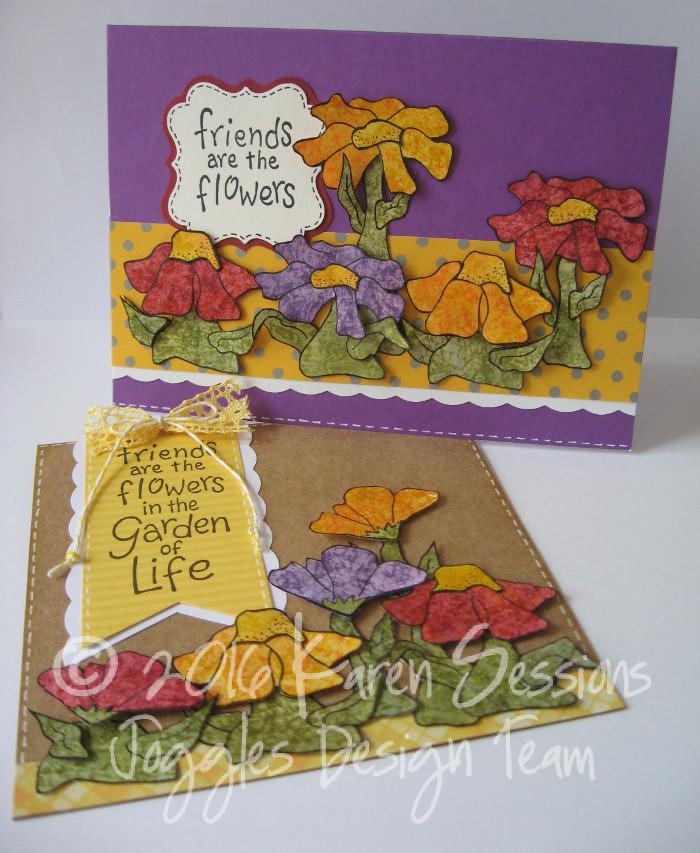 Karen Sessions - Funky Flower Stamps - July 29 - 21 logo