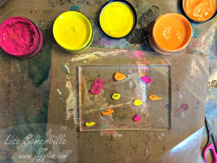 Step 1 add Paint Lisa Stencils August 5