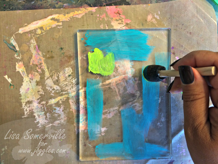 Step 11 add blue green to geli Lisa Stenclis August 5