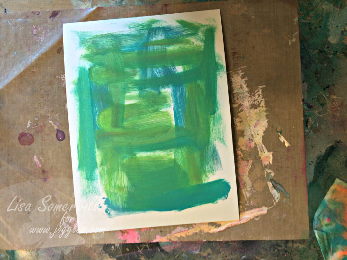 Step 12 pull print on MM Lisa Stencils August 5