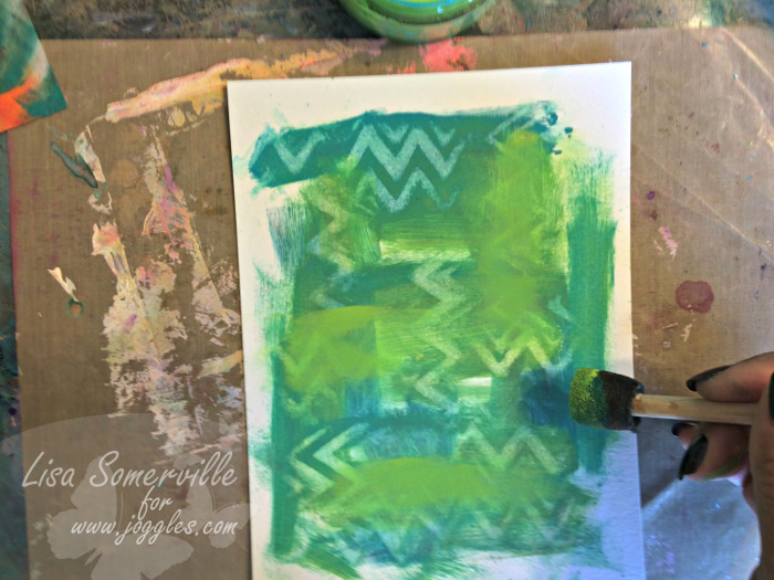 Step 15 add more paint Lisa Stencils August 5
