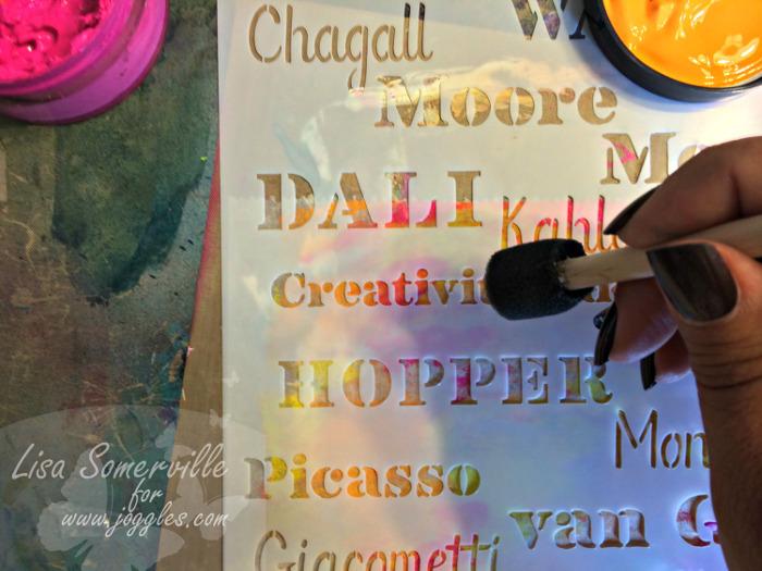 Step 4 add words Lisa Stencils August 5