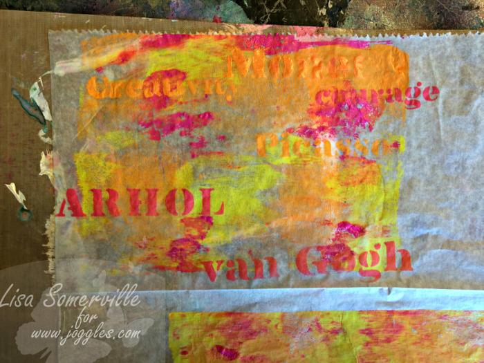 Step 5 let dry Lisa Stencils August 5