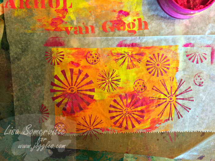 Step 7 let dry Lisa Stencils August 5