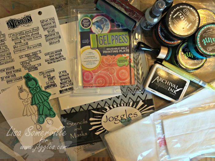 Supplies Lisa Stencils August 5