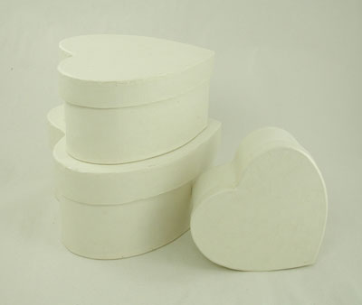 Set/3, Heart Vanilla Maché Boxes [1029813] - Image 2