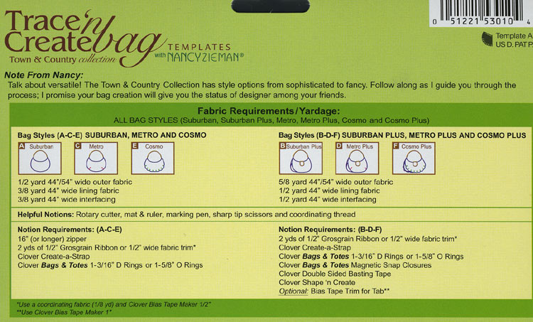 Trace 'n Create Bag with Nancy Zieman - Town & Country Collection [9500] - Image 2