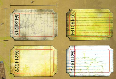Idea-ology by Tim Holtz - [TH92732] Journaling Tickets - Image 2