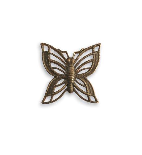 Vintaj Natural Brass Co. - [C4H40R] Filigree Butterflies - Image 2