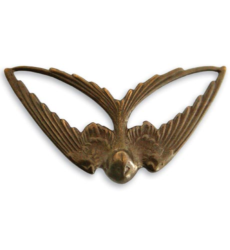Vintaj Natural Brass Co. - [P260R] Swooping Swallow - ON SALE! - Image 2