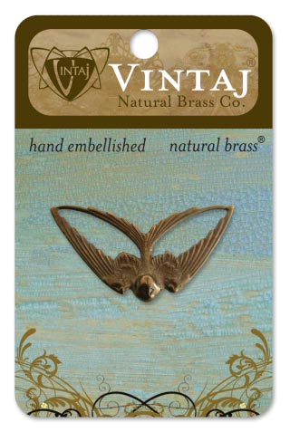 Vintaj Natural Brass Co. - [P260R] Swooping Swallow - ON SALE!