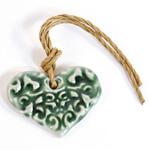 Ceramic Heart Charms