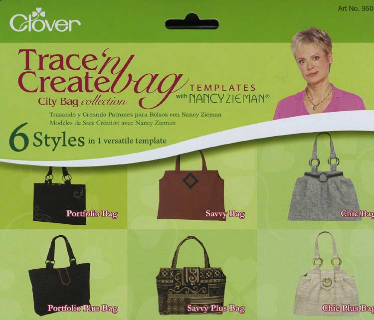 Trace 'n Create Bag Templates with Nancy Zieman - City Bag Collection [9501]