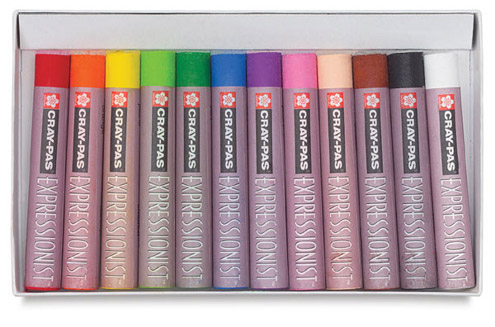 Sakura Cray-Pas Expressionist Oil Pastels - Set of 12 Colors - Image 2