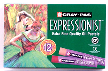 Sakura Cray-Pas Expressionist Oil Pastels - Set of 12 Colors