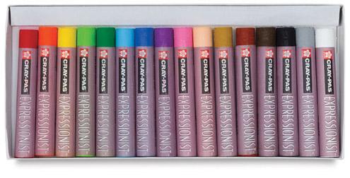 Sakura Cray-Pas Expressionist Oil Pastels - Set of 16 Colors - Image 2