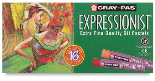 Sakura Cray-Pas Expressionist Oil Pastels - Set of 16 Colors