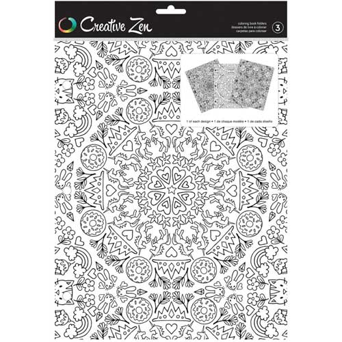 Creative Zen Coloring Folders - Kaleidoscope [375669]