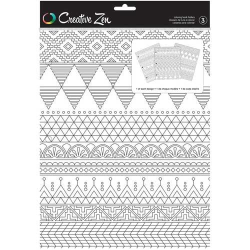 Creative Zen Coloring Folders - Tribal [375666]