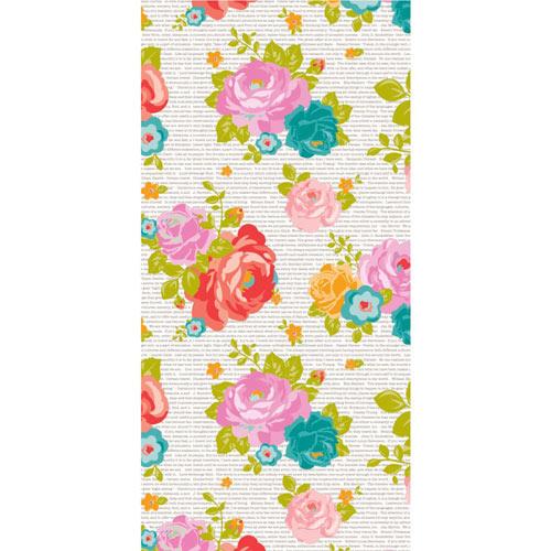 Hazel & Ruby Wrap it Up - Newsprint Floral [PR347] - SHIPS SEPARATELY