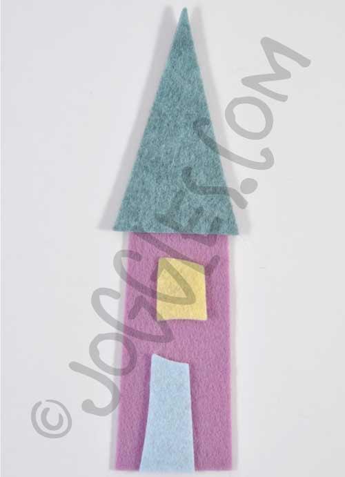 Joggles Wonky Wool Felt House #1 - Colorway B [56858]