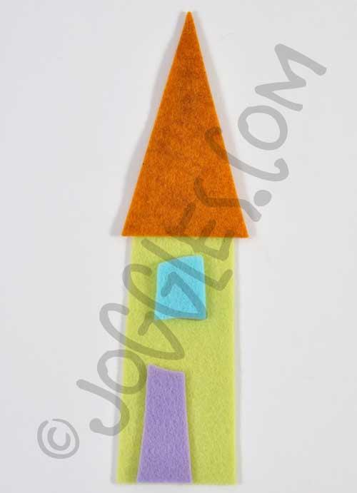 Joggles Wonky Wool Felt House #1 - Colorway C [56859]