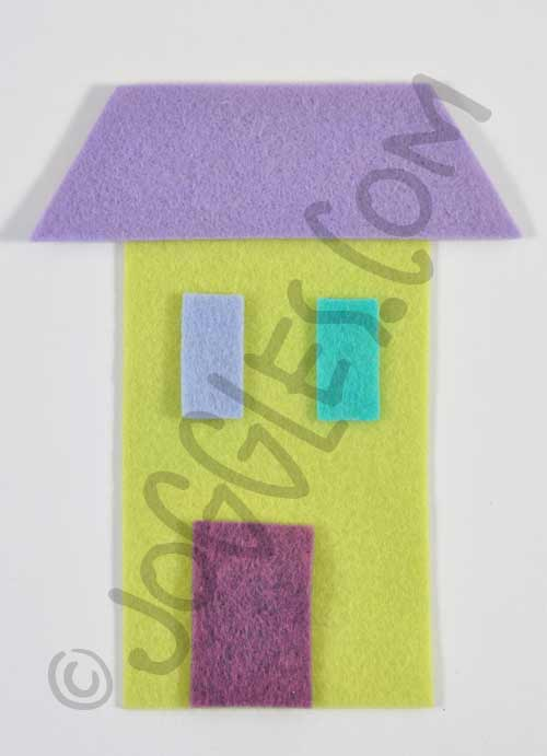 Joggles Wonky Wool Felt House #2 - Colorway A [56860]
