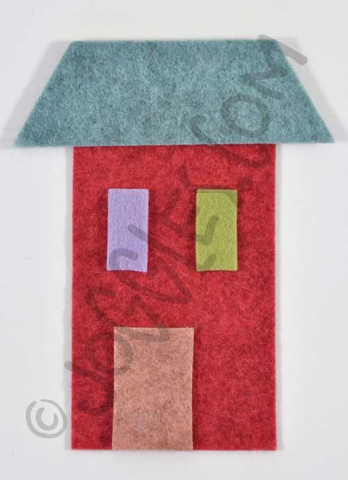 Joggles Wonky Wool Felt House #2 - Colorway B [56861]