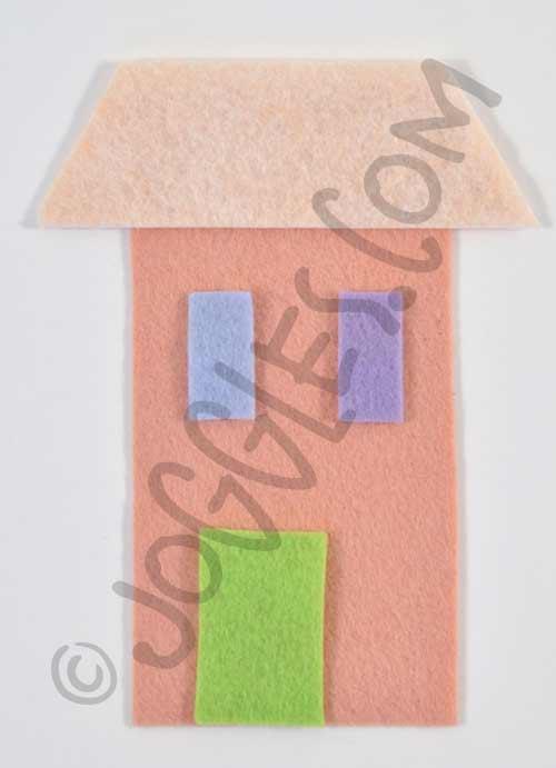 Joggles Wonky Wool Felt House #2 - Colorway C [56862]