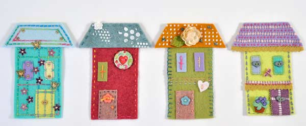 Joggles Wonky Wool Felt House #2 - Colorway A [56860] - Image 2