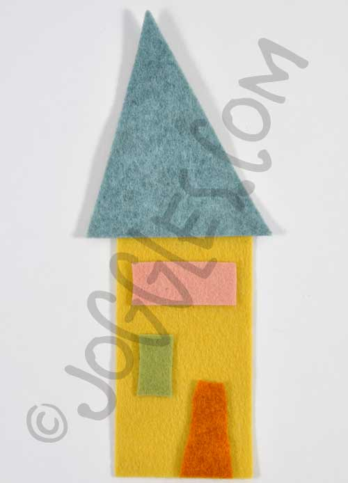Joggles Wonky Wool Felt House #3 - Colorway A [56863]