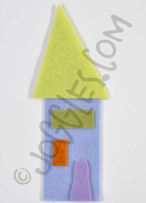 Joggles Wonky Wool Felt House #3 - Colorway B [56864]