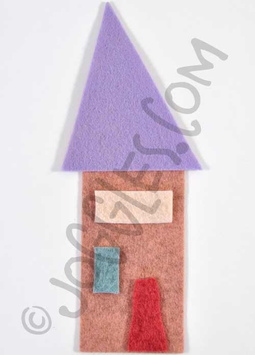 Joggles Wonky Wool Felt House #3 - Colorway C [56865]