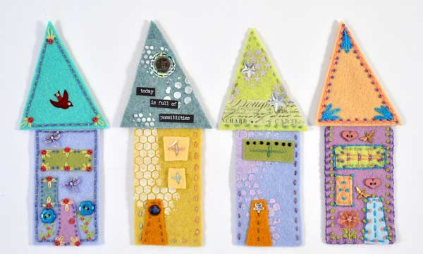 Joggles Wonky Wool Felt House #3 - Colorway A [56863] - Image 2
