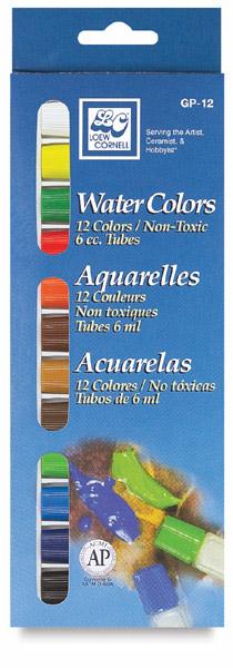 Loew-Cornell Watercolors - Set of 12 Colors [GP-12]