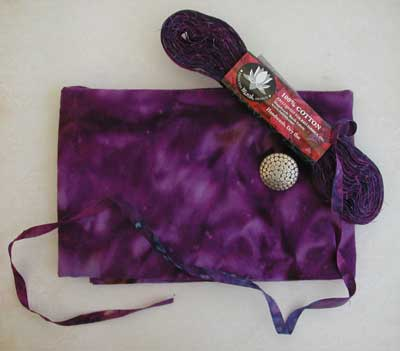 Princess Mirah Design - Little Knit Purse Kit - Grape Wine - Image 2