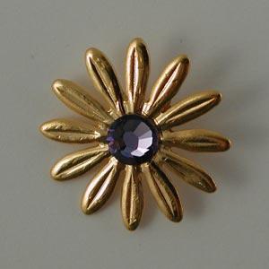 Nunn Designs Ornamental Brads - [jbg-db] Jewelled Daisy Brad, Gold
