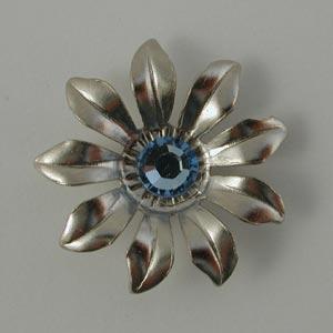 Nunn Designs Ornamental Brads - [jbg-9b] Jewelled Flower Brad, Gold