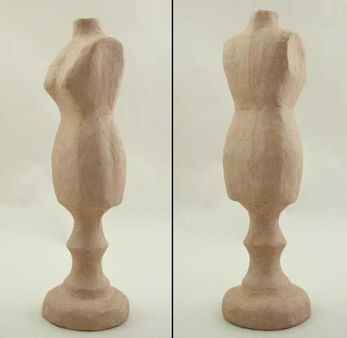 """13"""" Papier Mache Mannequin - Image 2"""