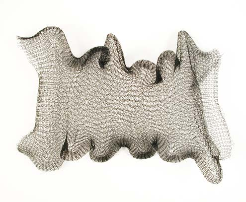 Knitted Metal Mesh by the Yard - [3011] Black