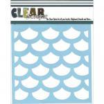 "Clear Scraps 6"" x 6"" Stencil - Fish Scales"