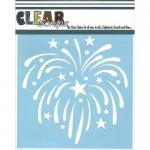 "Clear Scraps 6"" x 6"" Stencil - Fireworks"