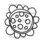 Joggles Cling Mounted Rubber Stamp - Scribble Flower #1 [33626]