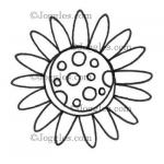 Joggles Cling Mounted Rubber Stamp - Scribble Flower #2 [33630]