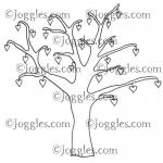 Joggles Cling Mounted Rubber Stamp - Heart Tree Large [33636]