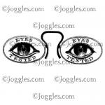 Joggles Cling Mounted Rubber Stamp - Eye Test [33637]
