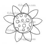 Joggles Cling Mounted Rubber Stamp - Scribble Flower #3 [33638]