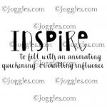 Joggles Cling Mounted Rubber Stamp - Definition - Inspire [33642]
